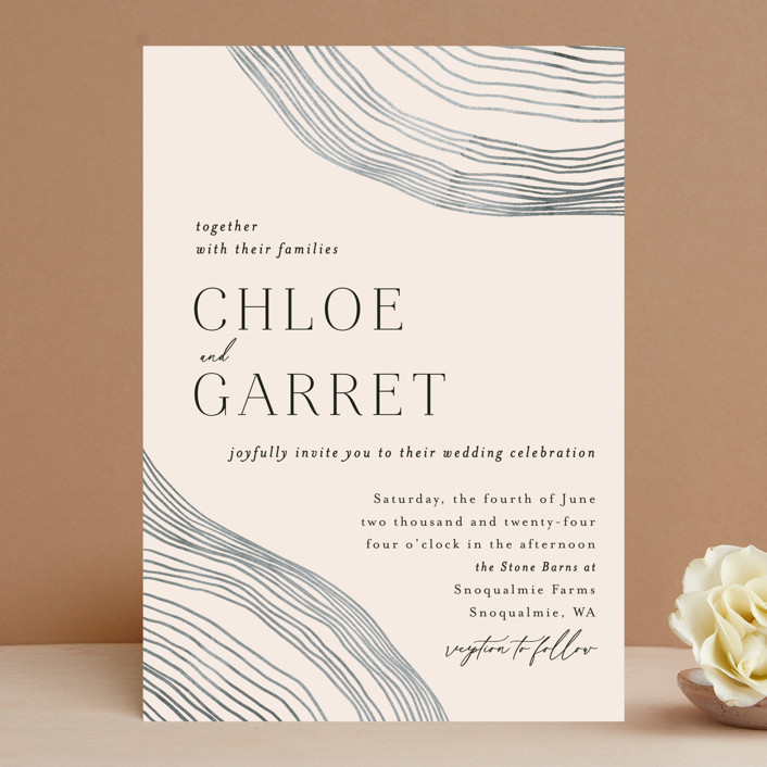 """""""Rings"""" - Modern Wedding Invitations in Natural by Alethea and Ruth."""