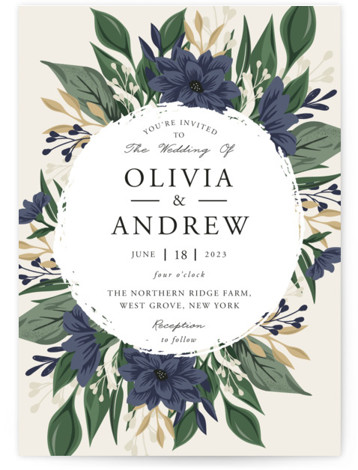 Ophelia's Garden Wedding Invitations