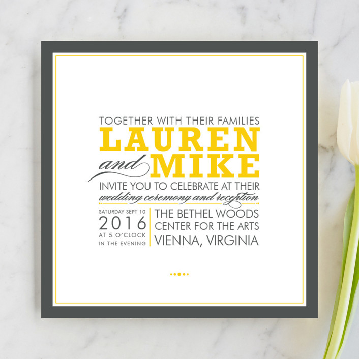 cocktail hour wedding invitations in corn yellow by ariel rutland - Minted Wedding Invites