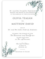 This is a green wedding invitation by Christie Kelly called Fresh Sage with standard printing on signature in standard.