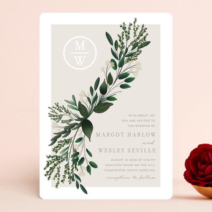 """Watermark"" - Wedding Invitations in Cypress by Kaydi Bishop."