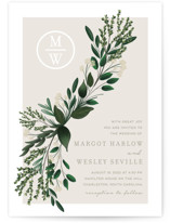 This is a green wedding invitation by Kaydi Bishop called Watermark with standard printing on signature in standard.