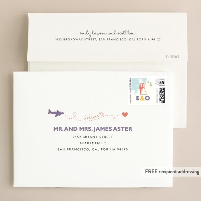 Destination wedding invitations by leslie hamer minted invitation suite free wedding website envelope design junglespirit Choice Image