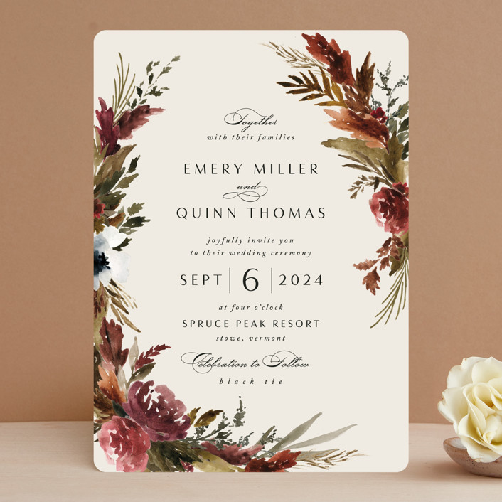 """""""poetique"""" - Wedding Invitations in Autumn by Kate Ahn."""