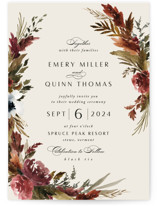 This is a orange wedding invitation by Kate Ahn called poetique with standard printing on signature in standard.