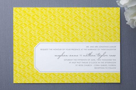 Diamond Pattern Wedding Invitations