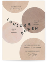 This is a pink wedding invitation by Sara Hicks Malone called Eclipse with standard printing on signature in standard.