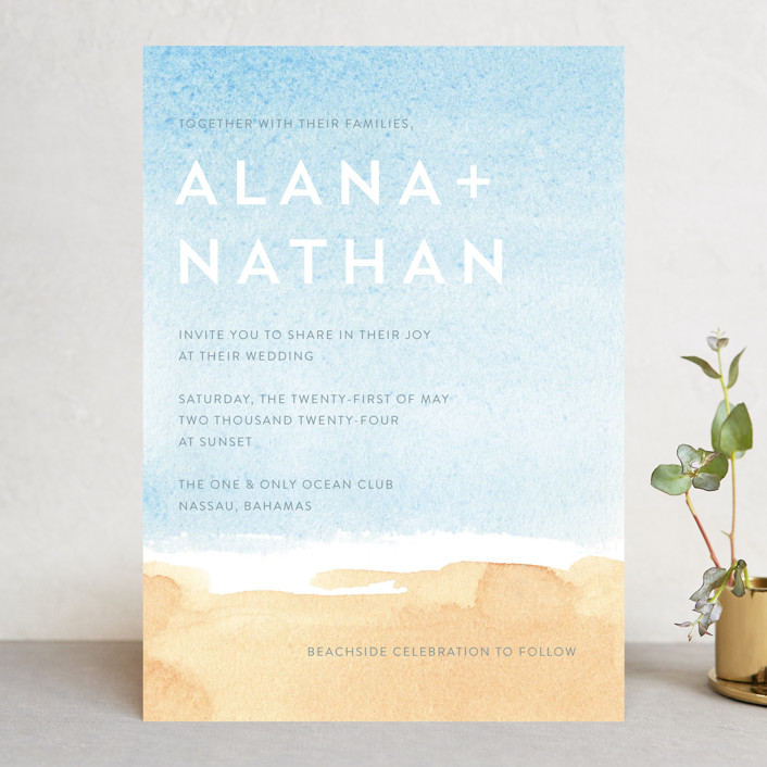 """Painted Sea"" - Wedding Invitations in Sea by Laura Condouris."