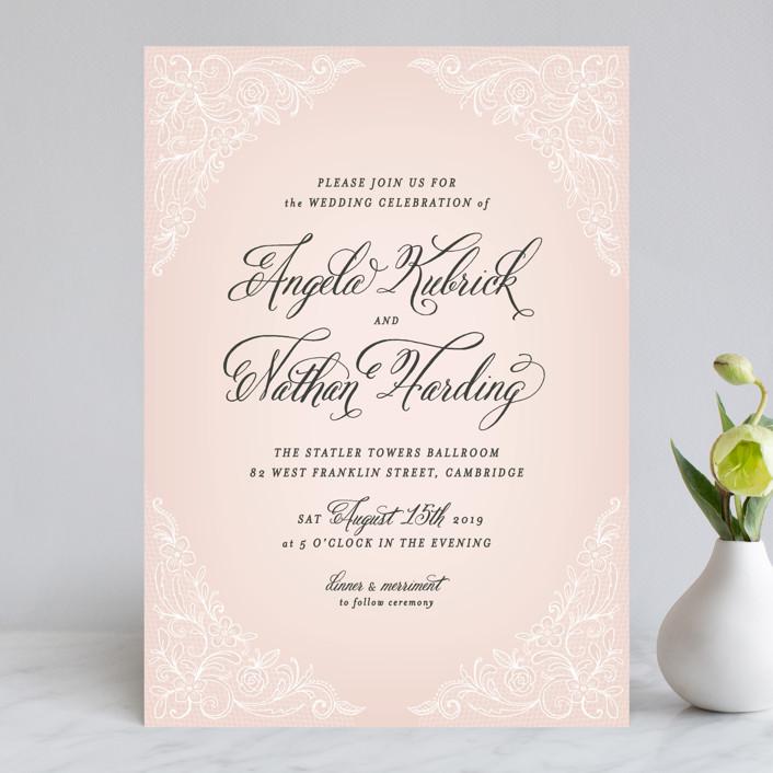 Elegant Lace Wedding Invitations By Hooray Creative | Minted
