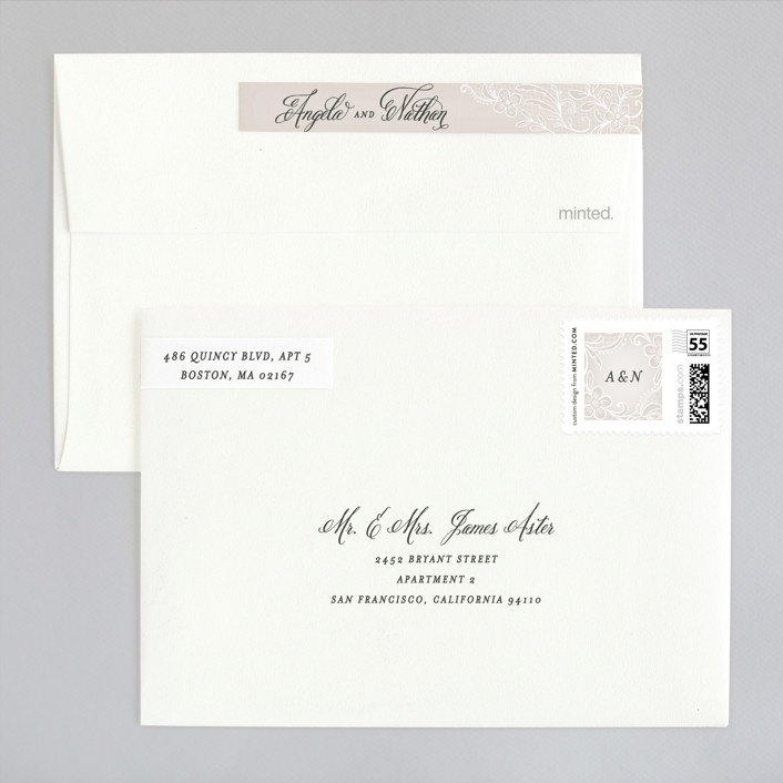 Elegant Wedding Invitations Minted: Elegant Lace Wedding Invitations By Hooray Creative