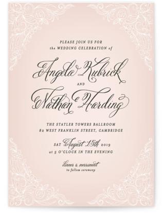 Elegant Lace Wedding Invitations
