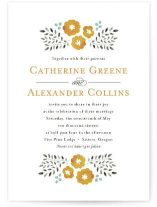 Watercolor Wildflowers Wedding Invitations