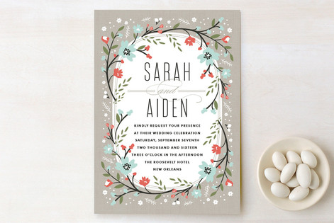 Garden Frame Wedding Invitations