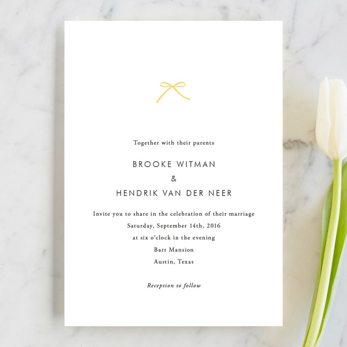 """""""Sweet Boutique"""" - Simple Wedding Invitations in Sunny Day by Design Lotus."""