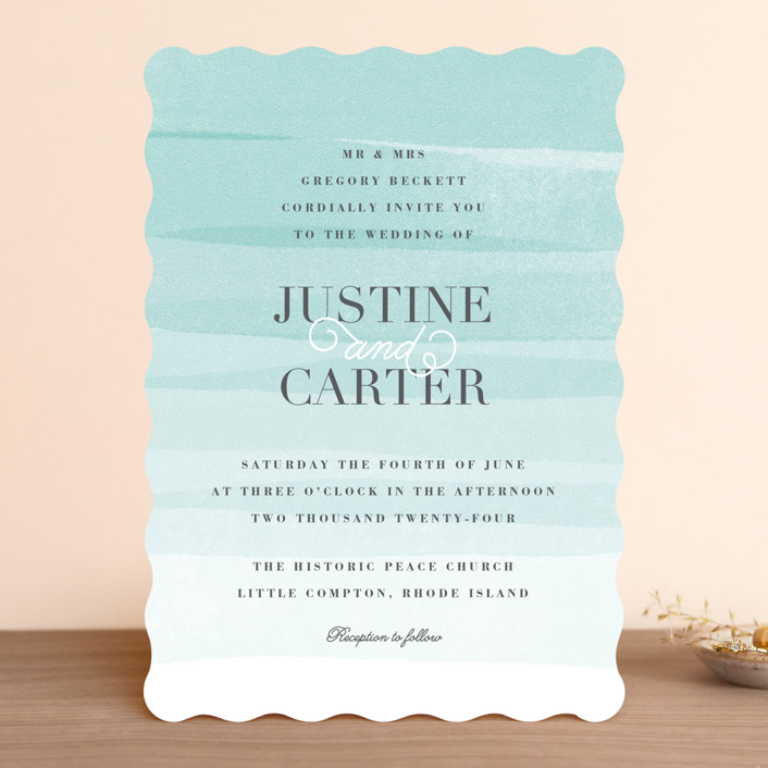 Old post road wedding invitations by jennifer wick minted old post road beach elegant wedding invitations in sea salt by jennifer filmwisefo