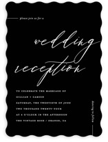 This is a black wedding invitation by Chryssi Tsoupanarias called Villa with standard printing on signature in standard.