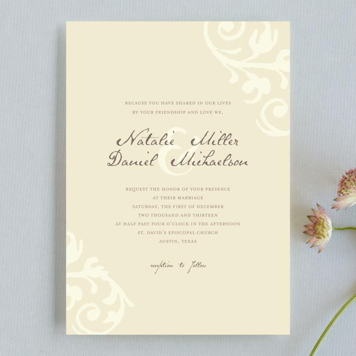 Elegant Flourish Wedding Invitations By Guess What Design Studio
