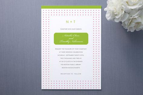 Preppy Dot Wedding Invitations