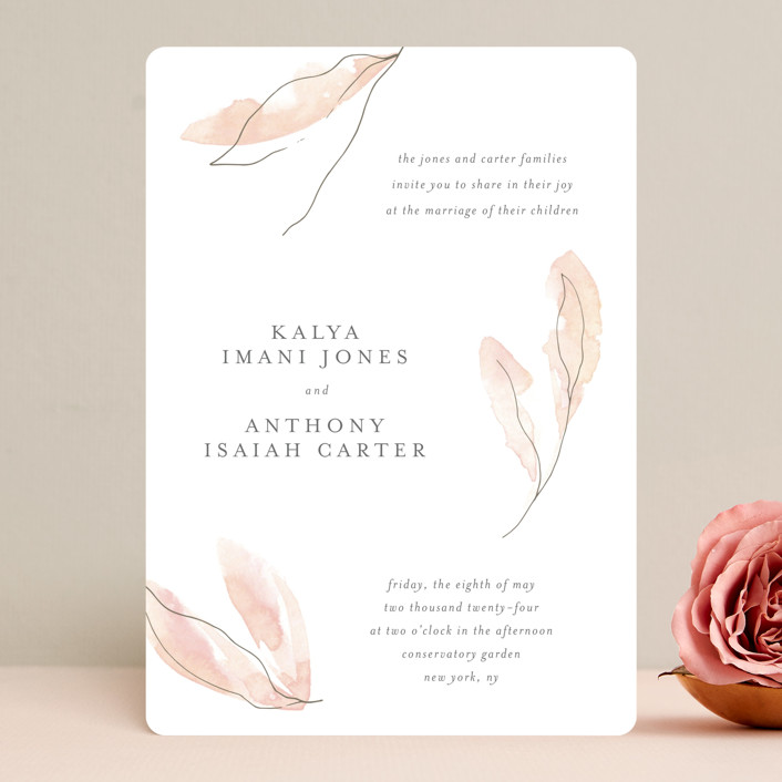 """Autumn Euphoria"" - Wedding Invitations in Autumn Kiss by Design Lotus."