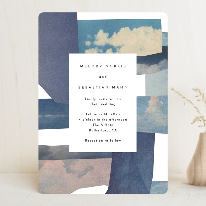 """sky poetry"" - Modern Wedding Invitations in Daylight by Sumak Studio."