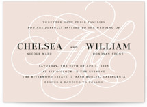 This is a beige wedding invitation by Jill Means called AND with standard printing on signature in standard.