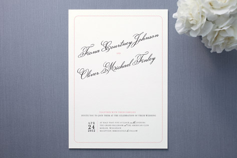 float + dotted delight Wedding Invitations