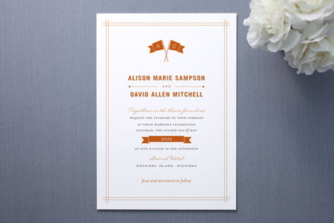 fanfare Wedding Invitations