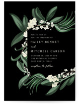 This is a black wedding invitation by Kaydi Bishop called Meander with standard printing on signature in standard.