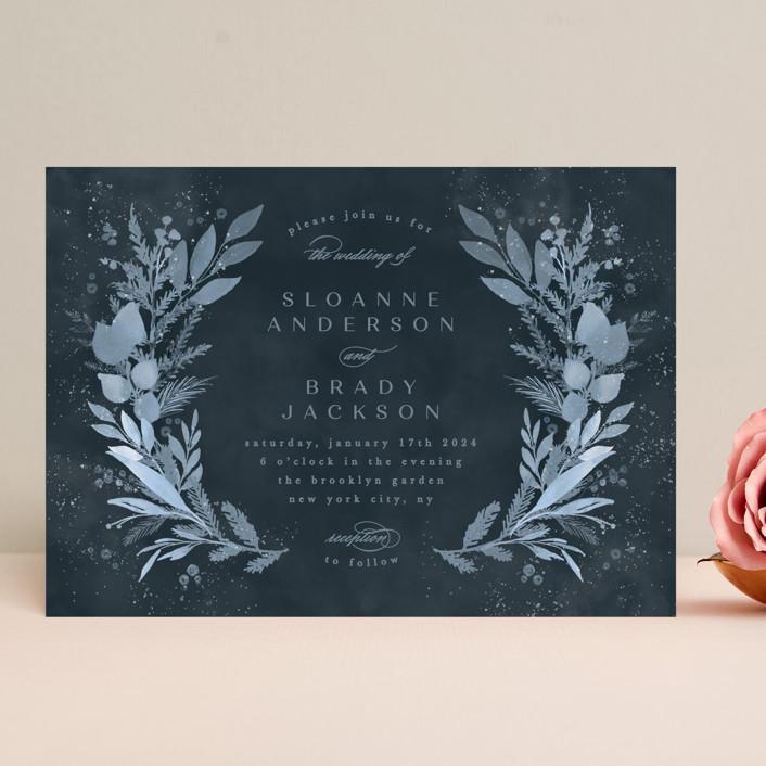 """Wonderful Tonight"" - Wedding Invitations in Neptune by Creo Study."