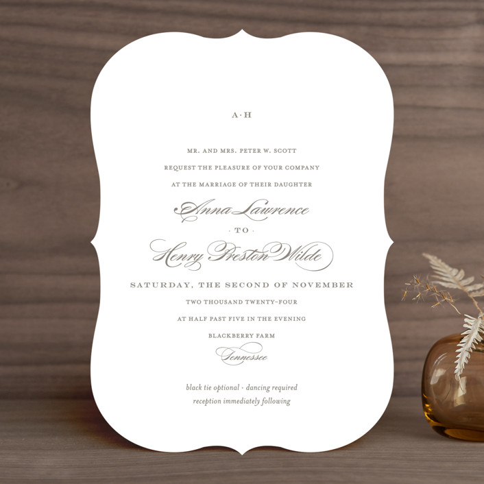 """Field"" - Simple, Elegant Wedding Invitations in Ash by Toast & Laurel."