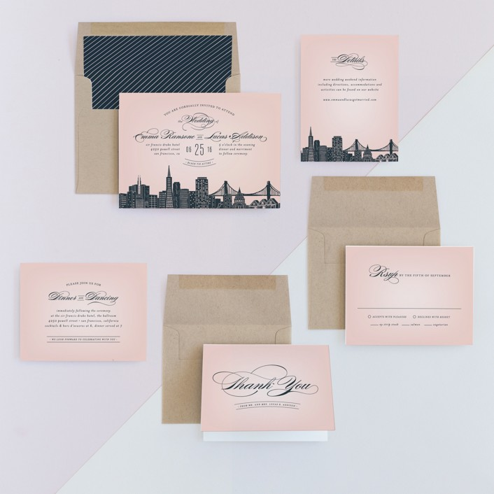 Big city san francisco wedding invitations by hooray creative minted invitation suite stopboris Choice Image