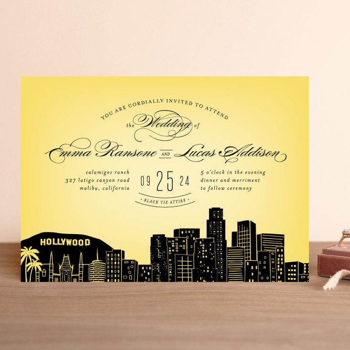 Superb Big City   Los Angeles Wedding Invitations By Hooray Creative | Minted Design Inspirations