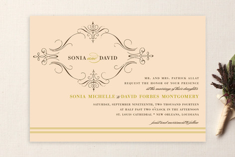 French vintage wedding invitations by annie clark minted french vintage wedding invitations stopboris Choice Image