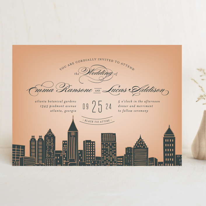 Big City   Atlanta Wedding Invitations By Hooray Creative | Minted