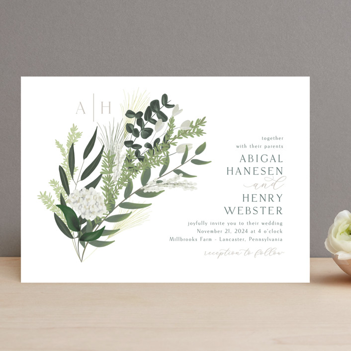 """""""Collection"""" - Wedding Invitations in Blanco by Kaydi Bishop."""