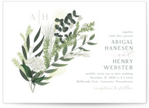 This is a green wedding invitation by Kaydi Bishop called Collection with standard printing on signature in standard.