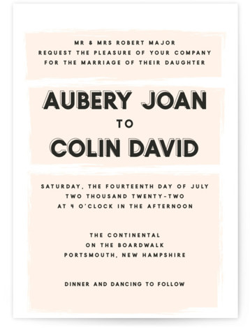This is a orange wedding invitation by frances called bold blush with standard printing on signature in standard.