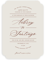 This is a brown wedding invitation by Nicole Barreto called Streamlined with standard printing on signature in standard.