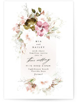 This is a white wedding invitation by Phrosne Ras called Beautiful Spring with standard printing on signature in standard.