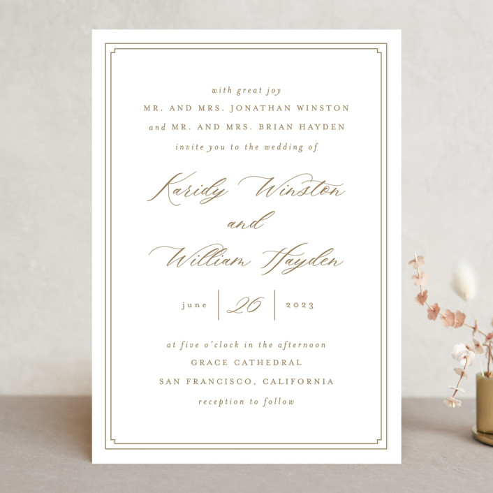 """""""set in stone"""" - Wedding Invitations in Dusty Rose by Mansi Verma."""