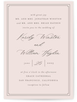 This is a pink wedding invitation by Mansi Verma called set in stone with standard printing on signature in standard.