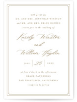 This is a yellow wedding invitation by Mansi Verma called set in stone with standard printing on signature in standard.