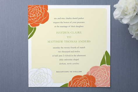Garden of Joy Wedding Invitations