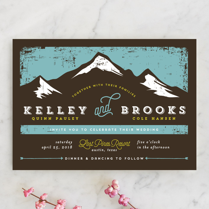 mountain marriage rustic wedding invitations in lake by jessica corliss - Mountain Wedding Invitations