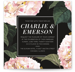 Peonie Party Wedding Invitations