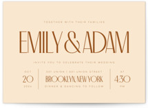 This is a orange wedding invitation by April Astudillo called Classic Touch with standard printing on signature in standard.