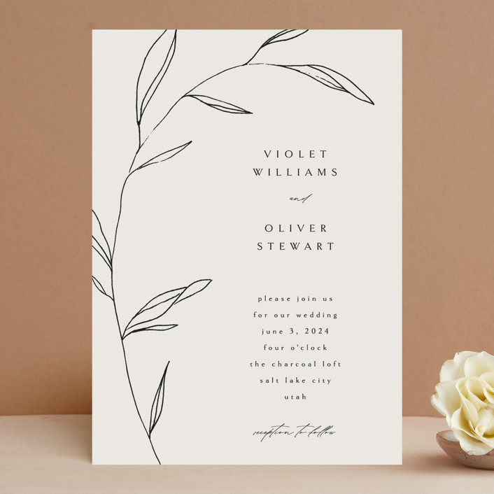 """""""Waldorf"""" - Wedding Invitations in Taupe by Kelly Schmidt."""