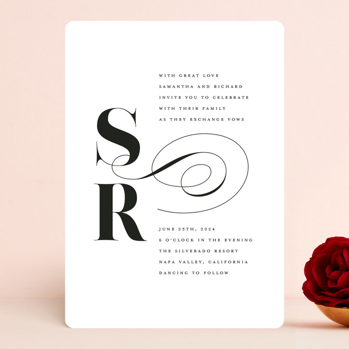"""""""whimsical ampersand"""" - Wedding Invitations in Black Tie by Laura Hamm."""