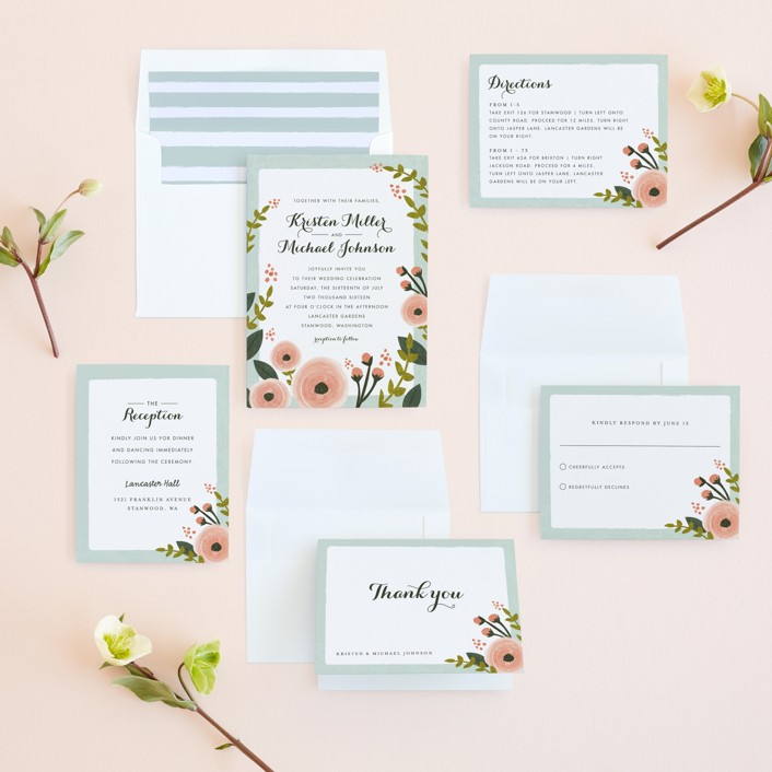 English Floral Garden Wedding Invitations by Karidy Walker | Minted