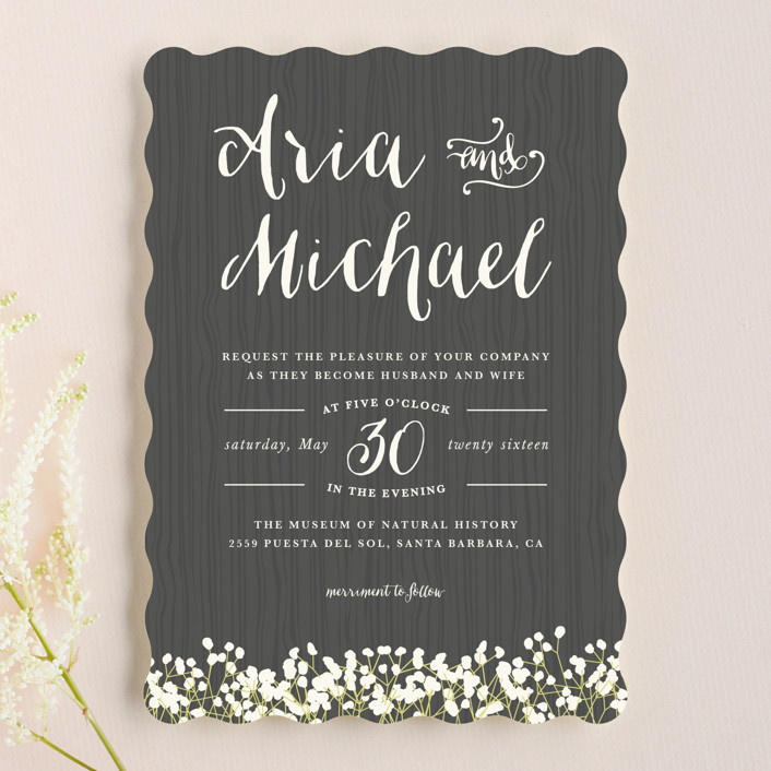 In Nature Wedding Invitations by Leah Bisch Minted